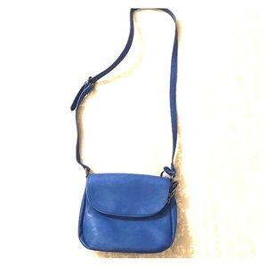 NWOT Bright Cobalt Blue Vegan Leather Purse